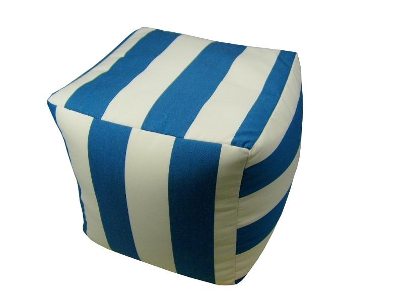 Amazing Sunbrella Cabana Regatta Pouf 17X17X17 Square 56604 423 Machost Co Dining Chair Design Ideas Machostcouk