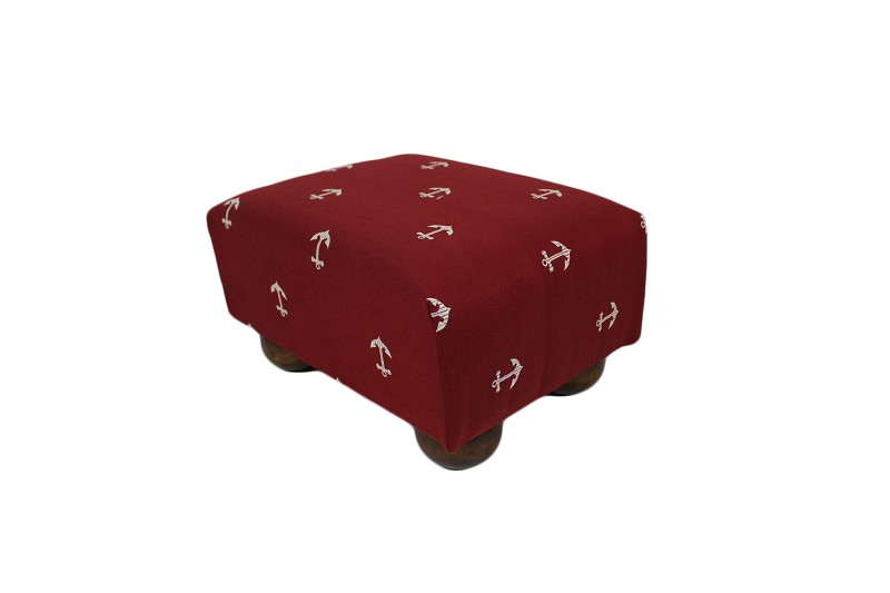 Anchors Red Footstool 12x15 47586-999