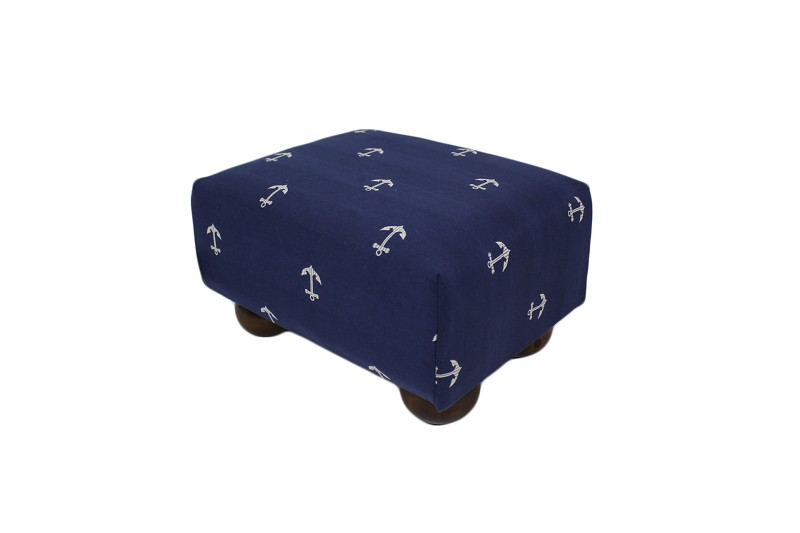 Anchors Navy Footstool 12x15 47587-999