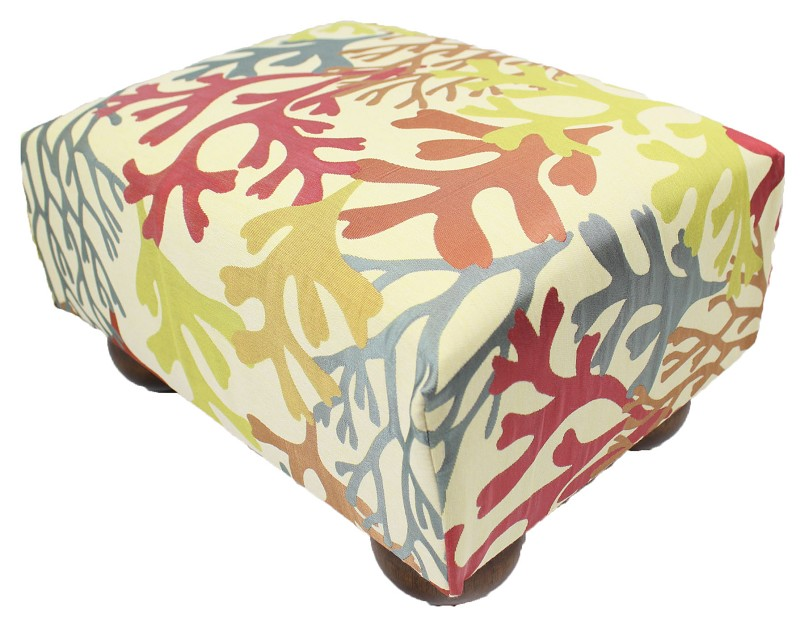 Bay Islands Tropical Footstool 12x15 43466-998