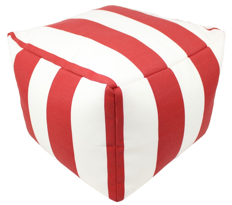 Red Cabana Pouf 12x16 Square  42613-999
