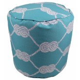 Why Knot Pouf 17x17 46694-999