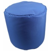 Canvas Sky Blue Pouf 17x17
