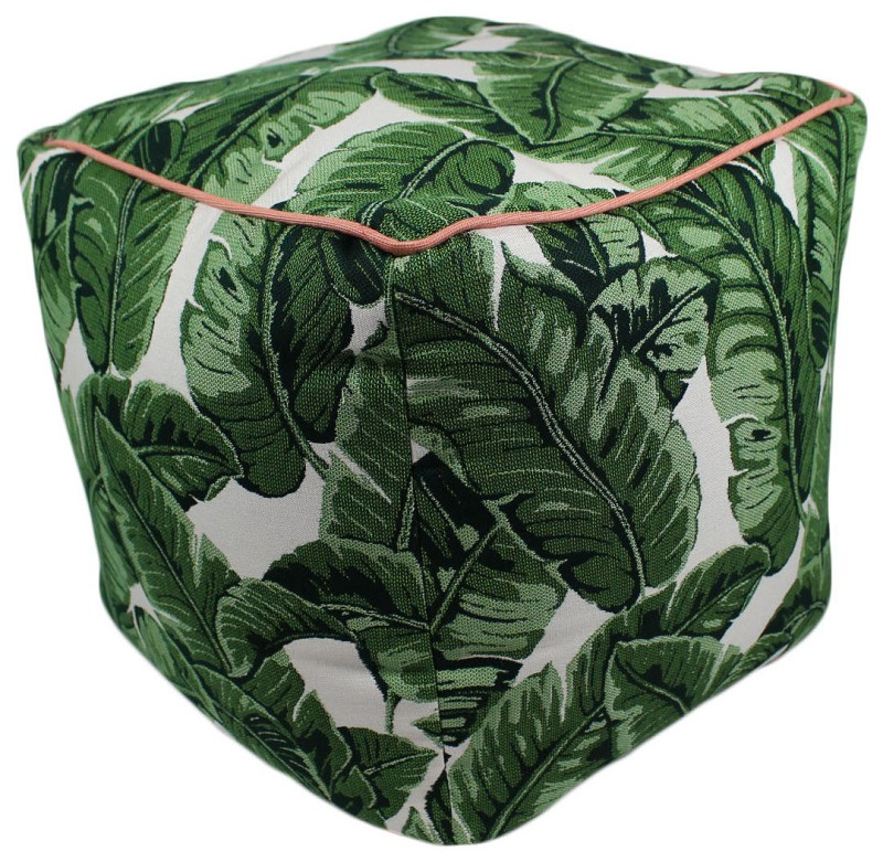 Tropics Jungle  Pouf 17x17 47094-999